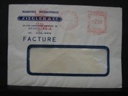 Ma-Aff. 4. Affranchissement Mécanique. Transport Internationnaux Ziegler & C° 1960 - Franking Machines