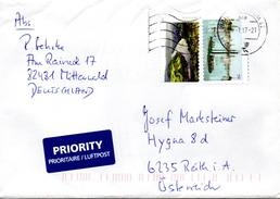 Auslandsbrief Von Briefzentrum 82 Mit 160 Cent Mischfrankatur 2017 - BRD