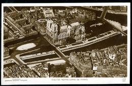 089-FRANCE PARIS PANORAMA-ILE De La Cité-Panorama-Insel The City Vue Aérienne-aerial View Ca 1920 - Flugwesen