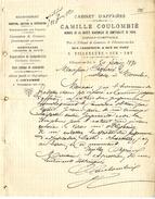 47  VILLENEUVE SUR LOT  CABINET D AFFAIRES  CAMILLE COULOMBIER   -   LETTRE COMMERCIALE  1890 - Bank & Insurance
