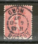 """N°129 °_""""ABSCON"""" Nord_CaD GARE_1907 - Poststempel (Einzelmarken)"""