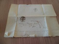 R Lettre Viviers 18/03/1842 à Lyon 19/3/1842 Sériliculture Damon Mécanicien Inventeur Du Coupe Feuille Marque Déposée TB