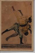 SPORTS De COMBAT JUDO Ou JU-JITSU - ILLUSTRATEURS  à IDENTIFIER  DESSIN Ou LITHO ANCIEN Sur CADRE -  - VOIR SCAN SUPERBE - Sports De Combat