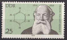 1997 Germania Democratica 1979 F. August Kekulè (1829-1896) Chimica Benzene DDR