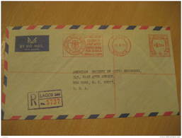 LAGOS 1972 UNITED BANK FOR AFRICA Metter Mail Cancel Cover NIGERIA