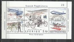 SWEDEN 1984 - AVIATION - CPL. SET - USED OBLITERE GESTEMPELT USADO - Avions