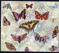 UKRAINE 2004 Butterflies Block MNH / **.  Michel Block 45 - Ukraine