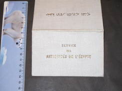 EGYPTE-SERVICE DES ANTIQUITES-CARTE D'ACCES AUX MONUMENTS FERMES OU ENCLOS DE HAUTE EGYPTE Del. 18/8/1913 - Historische Dokumente