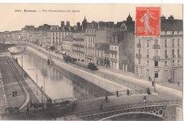 RENNES  ( 35 )  Vue Panoramique Des Quais - Rennes