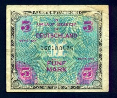 Banconota Germania 5 Mark 1944 - To Identify