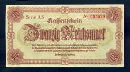 Banconota Germania 20 Reichsmark 28/4/1945 FDS - Germany