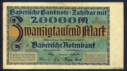 Banconota Germania 20000 Mark Monaco 1923 - To Identify
