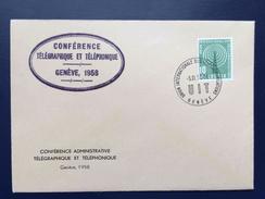 1958 UIT CONFERENCE TELEGRAPHIQUE TELEPHONIQUE, Genève Lettre Officielle, ITU - Servizio
