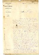 ALGERIE VILLE D ORAN PRODUIT COMMUNAUX  -  LETTRE COMMERCIALE 1890 - Factures & Documents Commerciaux