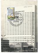 ALLEMAGNE DDR CARTE MAXIMUM HOTEL MERKUR à LEIPZIG 1981