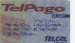 Venezuela, VE-TELCEL-030-2-B, Bs. 7.000, Holographic,  Servicios Telpalgo (3D), 2 Scans - Venezuela