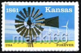 USA - 2011 - Kansas Statehood - Mint Self-adhesive Stamp - Ongebruikt