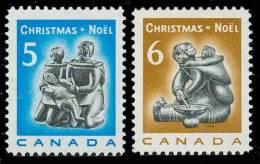 Canada (Scott No. 488-89PW - Noël / 1969 / Christmas) [**] Phosphore / Winnipeg / Tag - 1952-.... Règne D'Elizabeth II