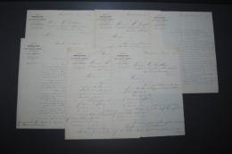 Lot De Courriers Anciens Société Marseillaise De Crédit Industriel Et Commercial 1879 Dette Gouvernement Tunisien - Aandelen