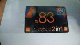 Israel-orange Bt-109-ARAB-(83new Sheqalim-payment 7sheqalim)-(card Board)-(16)(23.8.2012)used Card-look Out Side - Israël