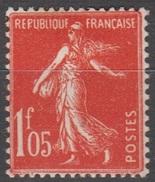 France 1924-26 N° 195 MH Semeuse Camée Fond Plein (D31) - 1906-38 Sower - Cameo