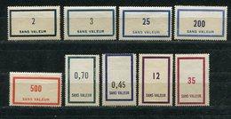 "Frankreich / Training-Stamps ""SANS VALEUR"" **/* (2567)"