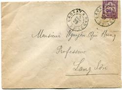 INDOCHINE ENTIER POSTAL DEPART CACHET CONVOYEUR  LAOKAY A HANOI 5 DEC 29  2°   ARRIVEE LANG-SON 6-12-29 TONKIN - Indocina (1889-1945)