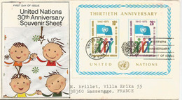 United Nations.1975, Letter FDC New-York Addressed To France, Sender Senator Jim Sensenbrenner