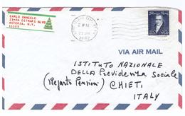 STORIA POSTALE - AMERICA CENTRALE - ANNO 1982 - LONG ISLAND CITY - NY - CARLO DANGELO - ASTORIA - AIR MAIL - INPS - - America Centrale