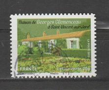 """FRANCE / 2013 / Y&T N° AA 868 : """"Patrimoine"""" (Maison De Clémenceau) - Choisi - Cachet Rond - Luchtpost"""