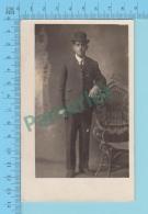CARTE POSTAL PHOTO 1907-09 - PHOTOGRAPHE: Ouimette Studio, Homme - 2 SCANS - Photographie