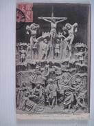 CPA  MUSEE DE SCULTURE Eglise De Thielen Retable Représentant La Passion (XVIe Siecle)  T.B.E. 1909 - Museos