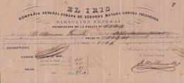 E5162 SPAIN ESPAÑA CUBA 1862 FIRE INSURANCE EL IRIS. SEGUROS CASAS CONTRA INCENDIO - Documentos Históricos