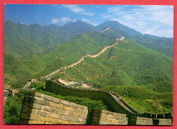 (391) Great Wall China Written Postcard 2 Scans