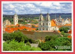 (393) Lithuania Vilnius Written Postcard 2 Scans