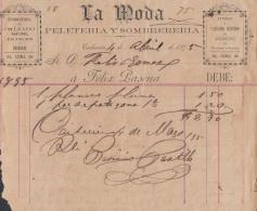E5206 SPAIN ESPAÑA CUBA 1895 PELETERIA SOMBRERERIA. SHOES HATS STORE - Documentos Históricos
