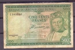 Mali 500 Fr Modibo  VF - Billets