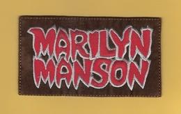*  Patch En Tissu :  Marilyn MANSON..Scan J : Voir Scans Recto Et Verso - Ecussons Tissu