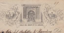 E5229 SPAIN ESPAÑA CUBA 1869 MARMOLERIA BIASCA MARMOL BATALLON INGENIEROS - Documentos Históricos