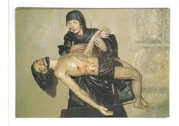 43.-ALLEGRE. Pieta,  Chapelle Notre-Dame De L'Oratoire. Statue Notre Dame De Pitié En Bois Sculpté Et Polychrome. - Jésus