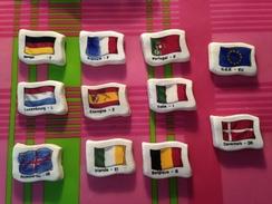 11 Feves Plate Serie Complète Moulin à Huile L'europe Des 10 - Pays