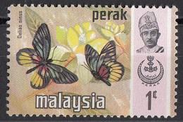 146 Malesia 1971  Perak Farfalle Butterflies Papillons - Delias Minus - Nuovo - Farfalle