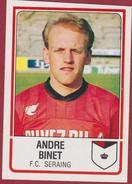 Panini Football 86 Voetbal Belgie Belgique 1986 Sticker FC Seraing Liege Luik  Nr. 277 Andre Binet - Sports