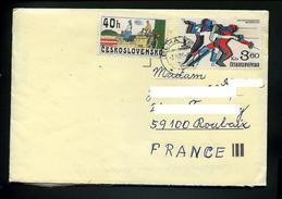 Marcophilie,sport,escrime JO Moscou,cyclisme Velo De 1910 Sur Lettre De Tchecoslovaquie Pour La France  De 1984