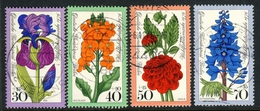 """1976 Berlin Complete VF Used Set Of 4 Semi Postal Stamps """" Flowers"""", Michel # 524-527 # 2 - Used Stamps"""
