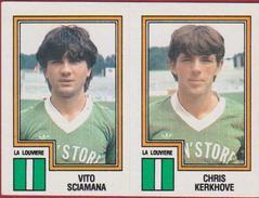Panini Football Belgique Belgie 84 1984 La Louviere RAA Louviéroise Sticker Nr. 404 Vito Sciamana Chris Kerkhove - Sports