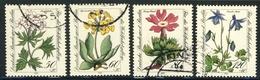 """1983 Berlin Complete VF Used Set Of 4 Semi Postal Stamps """" Flowers"""", Michel # 703-706 - [5] Berlin"""