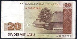 LATVIA 20 LATU 1992 P-45 F-VF - Latvia