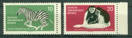 BM DDR 1961   MiNr 825-826 Seitenrand   MNH   100 Jahre Dresdner Zoo - Nuovi