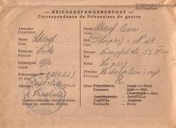 VAUCLUSE - CAMP DE PRISONNIERS DE GUERRE ALLEMANDS DEPOT N°154 SORGUES VAUCLUSE - LONGUE CORRESPONDANCE EN ALLEMAND - Guerre De 1939-45